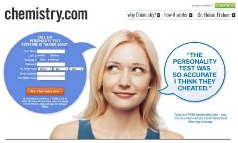 An example of line of sight from a Chemistry.com landing page.