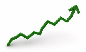 Line graph of upward trend